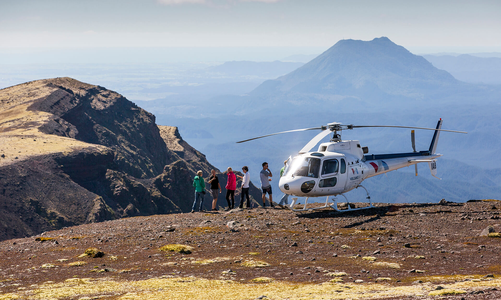 Helicopter at Mount Tarawera